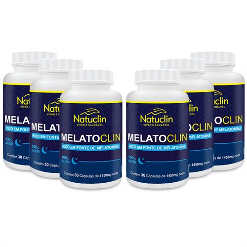 Melatoclin - 30 cápsulas - 1450mg - 6 frascos 6 frascos