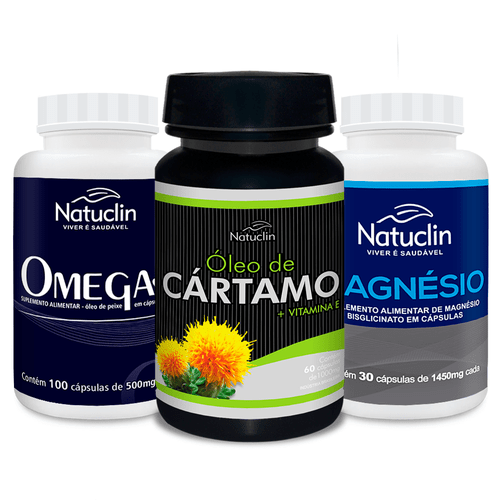 Hipertensao---Omega-3-Natuclin---Oleo-de-Cartamo-Natuclin---Magnesio-Bisglicinato-Natuclin